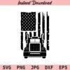 American Flag Trucker SVG, US Flag Trucker SVG, Semi Truck SVG, Big Truck SVG, PNG,