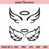 Angel Wings SVG, Angel SVG, Halo SVG, PNG, DXF, Cricut, Cut File, Clipart
