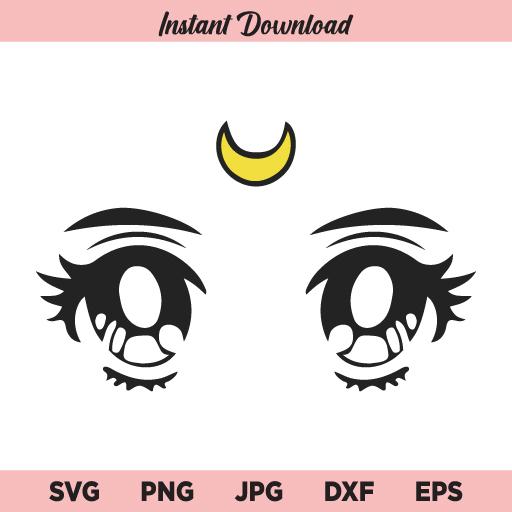 Anime Eyes svg, Sailor Moon SVG, Anime SVG, Usagi Tsukino SVG, PNG, DXF, Cricut, Cut File, Clipart