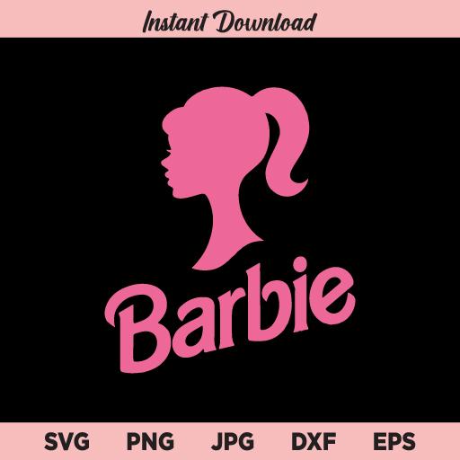 Barbie SVG, Pink Barbie SVG, Barbie Logo SVG, Barbie Girl SVG, Barbie Birthday SVG, PNG, DXF, Cricut, Cut File, Clipart