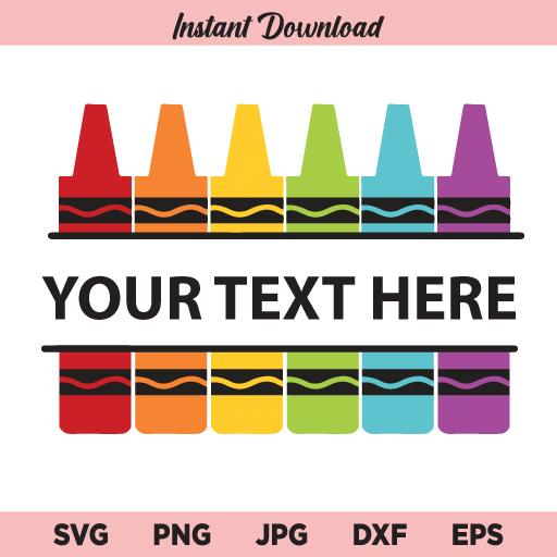 Crayon SVG, Crayons SVG, Crayons Monogram SVG,