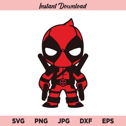 Deadpool SVG, PNG, DXF, Cricut, Cut File, Clipart, Silhouette