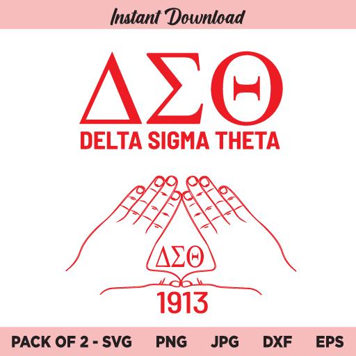 Delta Sigma Theta SVG, Delta 1913 SVG, PNG, DXF, Cricut, Cut File, Clipart