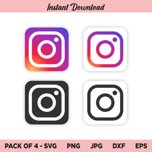 Instagram SVG, Instagram Logo SVG, Instagram Icon SVG, PNG, DXF, Cricut, Cut File, Clipart