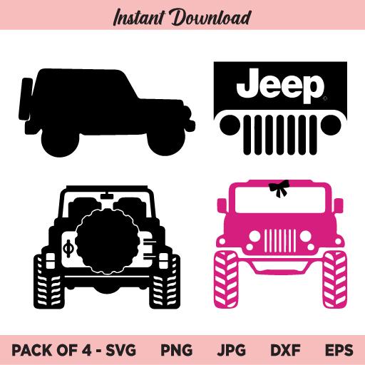 Jeep SVG, Jeep Logo SVG, Jeep Girl SVG, PNG, DXF, Cricut, Cut File, Clipart