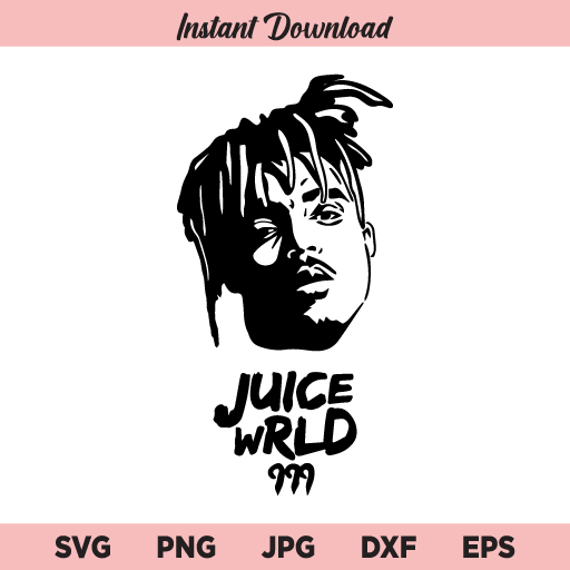 Juice Wrld SVG, Juice World SVG, Juice Wrld SVG File, Juice Wrld Rapper SVG, Juice Wrld SVG PNG DXF, Cricut, Cut File, Clipart