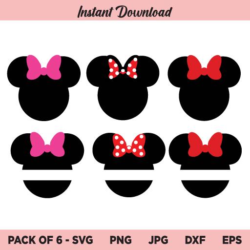 Minnie Mouse SVG, Minnie Monogram SVG, Minnie Mouse Bow SVG, Disney SVG, PNG, DXF, Cricut, Cut File, Clipart, Silhouette