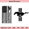 Mustang Flag SVG, Mustang SVG, Ford Mustang SVG, PNG, DXF, Cricut, Cut File, Clipart
