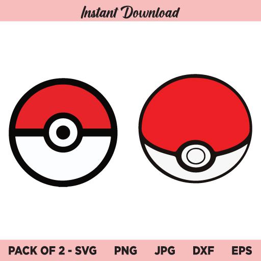 Pokemon Pokeball SVG, Pokeball SVG, PNG, DXF, Cricut, Cut File, Clipart