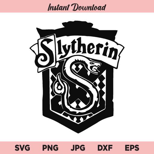 Slytherin SVG, Harry Potter SVG, PNG, DXF, Cricut, Cut File, Clipart