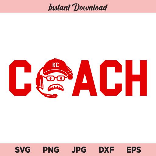 Andy Reid Coach SVG, Chiefs SVG, Andy Reid SVG, PNG, DXF, Cricut, Cut File, Clipart