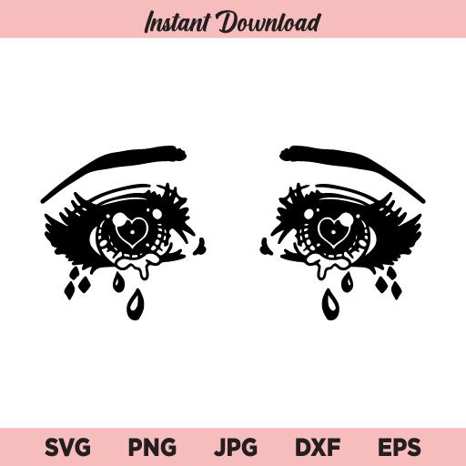 Anime Eyes SVG, Sailor Moon SVG, Anime SVG, PNG, DXF, Cricut, Cut File, Clipart