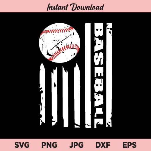 Baseball Flag SVG, Baseball SVG, Flag SVG, USA Baseball Flag SVG, PNG, DXF, Cricut, Cut File, Clipart