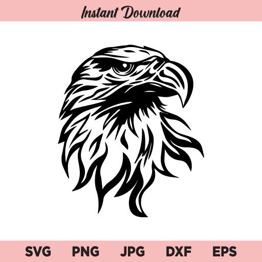 Eagle SVG, Eagle Face SVG, PNG, DXF, Cricut, Cut File, Clipart