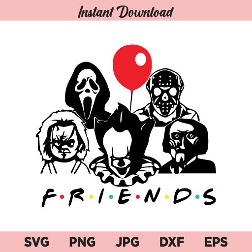 Friends Horror SVG, Friends SVG, Scary Friends SVG, Halloween SVG, Halloween Horror Friends SVG