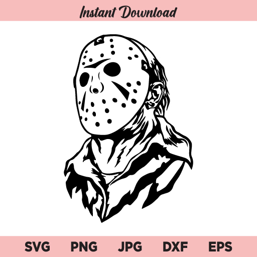 Jason SVG, Jason Voorhees SVG, Friday the 13th SVG, Horror Halloween SVG, PNG, DXF, Cricut, Cut File, Clipart