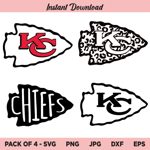 Kansas City Chiefs Logo SVG, NFL Football SVG, KC Chiefs Logo, Chiefs Super Bowls SVG, PNG, DXF, Cricut, Cut File