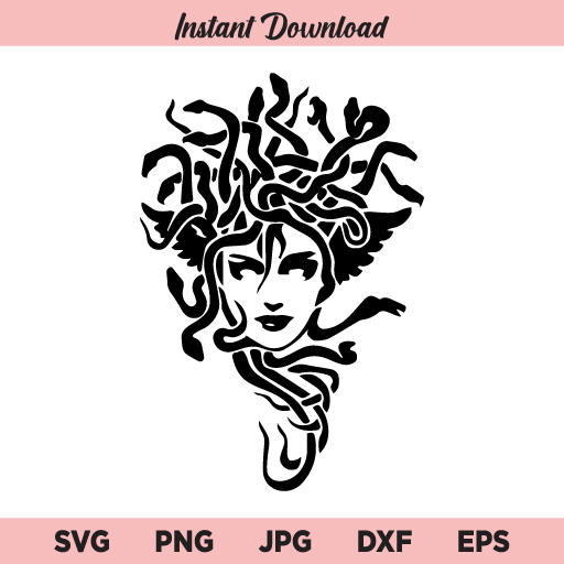 Goddess Medusa SVG, Medusa SVG, Witch SVG, Halloween SVG, PNG, DXF, Cricut, Cut File, Clipart