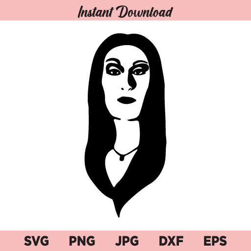 Morticia Addams SVG, Halloween SVG, PNG, DXF, Cricut, Cut File, Clipart