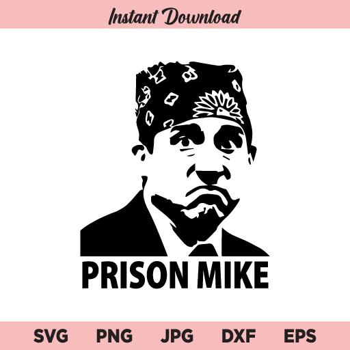 Prison Mike SVG, Michael Scott The Office SVG, PNG, DXF, Cricut, Cut File, Clipart