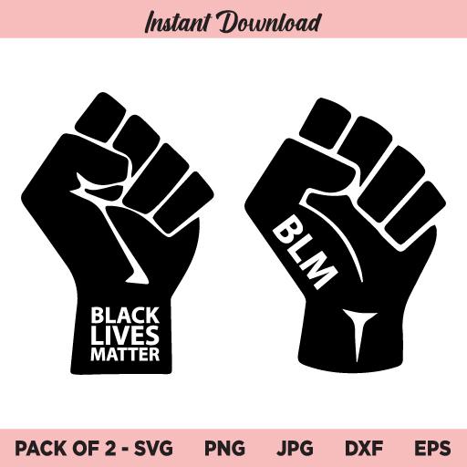 Raised Fist SVG, BLM SVG, Black Lives Matter SVG, PNG, DXF, Cricut, Cut File, Clipart, Silhouette