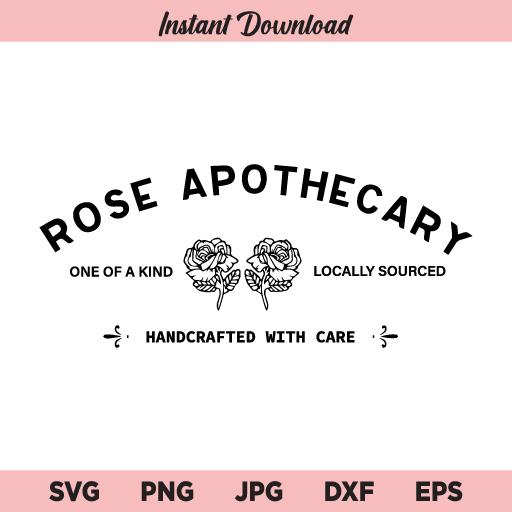 Rose Apothecary SVG, Schitts Creek SVG, David Rose SVG, PNG, DXF, Cricut, Cut File, Clipart