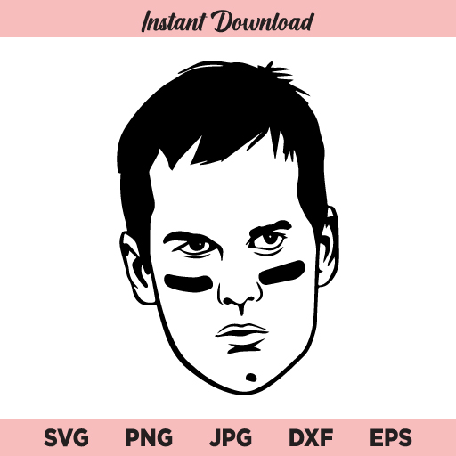 Tom Brady SVG, Brady SVG, Tom Brady Face SVG, Tampa Bay Buccaneers SVG, Patriots SVG, PNG, DXF, Cricut, Cut File