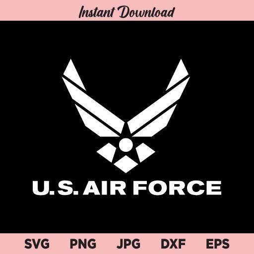 U.S. Air Force SVG, US Air Force SVG, Air Force American Logo SVG, PNG, DXF, Cricut, Cut File, Clipart