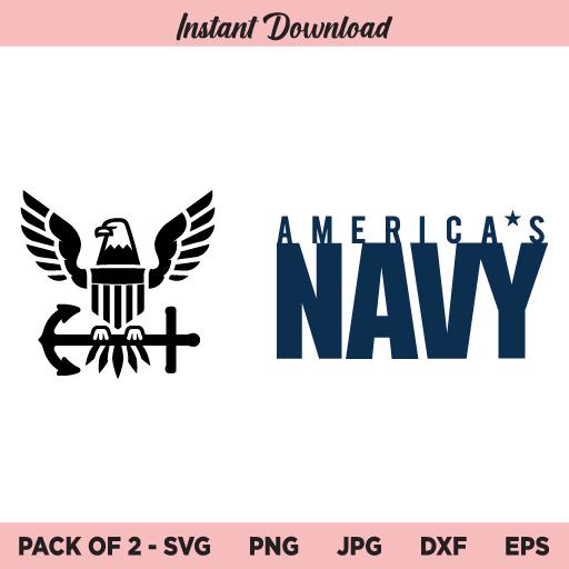 US Navy SVG, American Navy SVG, Navy SVG, PNG, DXF, Cricut, Cut File, Clipart