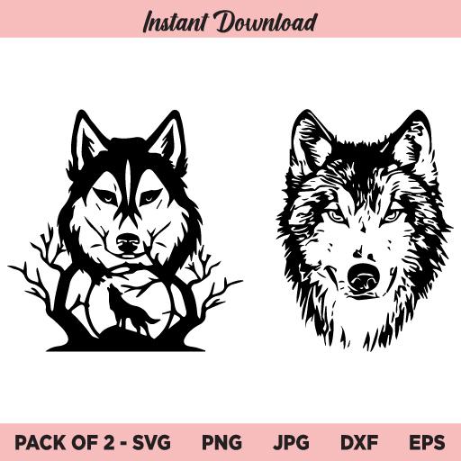 Wolf SVG, Wolves SVG, PNG, DXF, Cricut, Cut File, Clipart, Silhouette