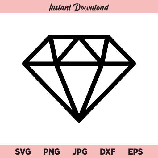 Diamond SVG, Rich Diamond Ring SVG, Engagement party SVG, PNG, DXF, Cricut, Cut File, Clipart