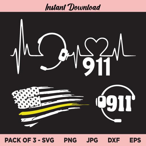 Dispatcher SVG, Dispatcher US Flag SVG, Dispatcher Heartbeat SVG, Dispatcher Headset SVG, Dispatcher 911 SVG, Dispatcher SVG Bundle