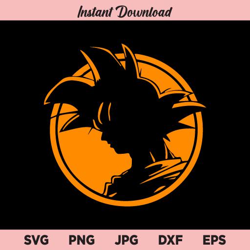 Goku SVG, Goku Silhouette, Goku Clipart, Goku Decal, Dragon Ball SVG, Goku PNG, DXF, Instant Download