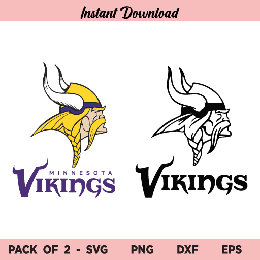 Minnesota Vikings SVG Bundle, Minnesota Vikings LogoSVG, PNG, DXF, Cricut, Cut File, Clipart, Instant Download