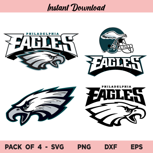 Philadelphia Eagles Logo SVG, Philadelphia Eagles SVG, PNG, DXF, Cricut, Cut File, Clipart, Instant Download