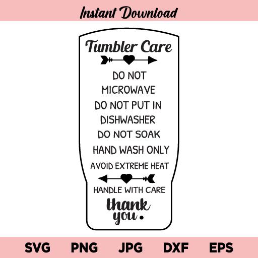 Tumber Care Card SVG, Tumber Care Card SVG File, Tumber Care Card, Tumber Care Card PNG, Tumber Care Card DXF, Cricut, Cut File, Clipart