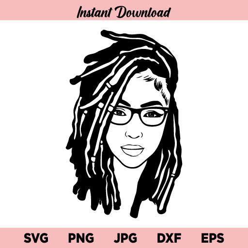 Afro Woman Dreads SVG, Black Woman Queen Diva Dreadlocks SVG, African American Female Dreads SVG