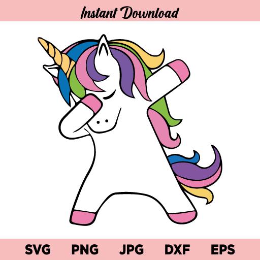 Dabbing Unicorn SVG, Dabbing Unicorn Horse SVG, Unicorn SVG Dabbing SVG, Unicorn Birthday SVG, Magical Unicorn SVG, PNG, DXF, Cricut, Cut File
