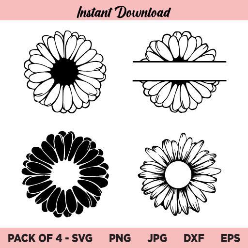 Daisy Flower SVG, Daisy SVG Bundle, Daisy SVG, Flower SVG, Daisy Flower, SVG, PNG, DXF, Cricut, Cut File, Clipart, Instant Download
