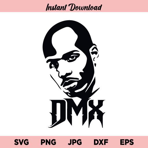 DMX Hip Hop Rapper SVG, DMX Face SVG, DMX Rapper SVG, DMX Shirt SVG, DMX