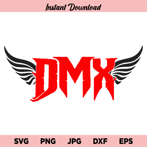 DMX Wings SVG, DMX SVG, Wings SVG, DMX Wings RIP SVG, DMX Logo With Wings, SVG, PNG, DXF, Cricut, Cut File, Clipart, Instant Download