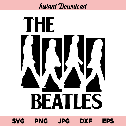 The Beatles English Rock Band SVG, The Beatles SVG, The Beatles Rock Band SVG, The Beatles, SVG