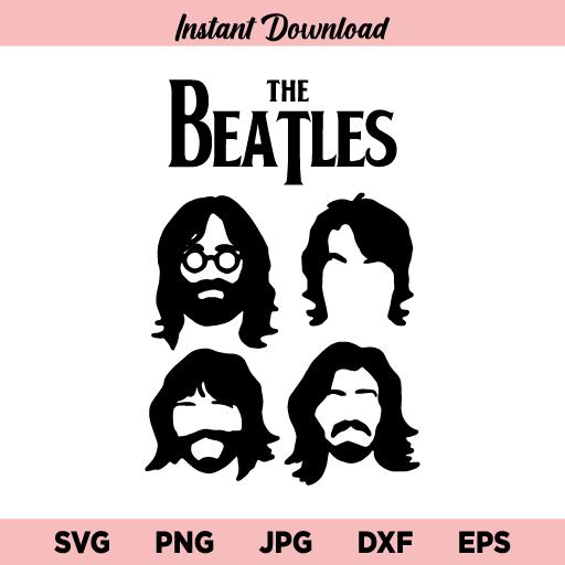 The Beatles SVG, Beatles SVG, The Beatles SVG File, The Beatles Rock Band SVG, Beatles, SVG, PNG, DXF, Cricut, Cut File, Clipart, Instant Download
