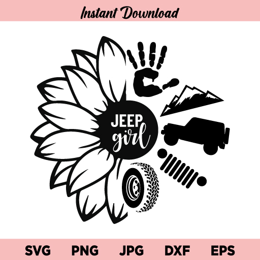 Sunflower Jeep Girl SVG, Sunflower SVG, Jeep Girl SVG, Sunflower Jeep Girl, SVG, PNG, DXF, Cricut, Cut File, Clipart, Instant Download
