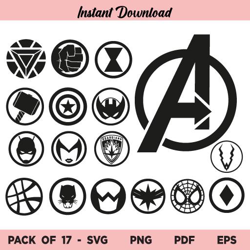 Avengers Icons SVG, Avengers Icons SVG File, Avengers Icons SVG Bundle, Avengers Icons SVG Design, Avengers Icons, Avengers, SVG, PNG, Cricut, Cut File, Clipart, Instant Download
