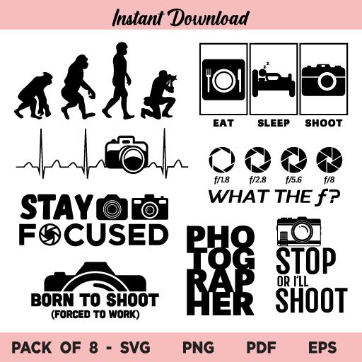 Photographer SVG Bundle, Funny Photographer SVG Bundle, Photography SVG Bundle, Camera, Photography, Photographer, Photographer Quotes, Funny Photography, Photography Lovers, SVG, PNG, Cricut, Cut File