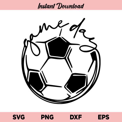 Game Day Soccer SVG, Game Day Soccer Ball SVG File, Game Day SVG, Soccer SVG, Soccer Ball SVG, Gameday SVG, Game Day Soccer, SVG, PNG, DXF, Cricut, Cut File