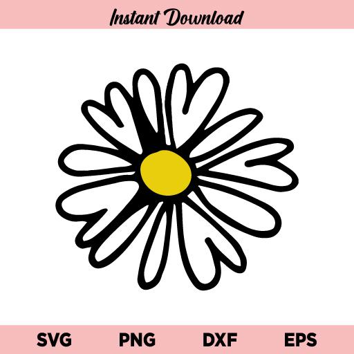 Daisy SVG, Flower SVG, Floral SVG, Daisy Flower SVG, Simple Daisy SVG, Wedding Flower Daisy SVG, Daisy Flower, SVG, PNG, DXF, Cricut, Cut File