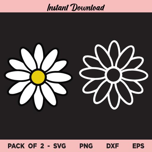 Daisy Flower SVG, Daisy Flower Bundle SVG, Daisy SVG, Simple Daisy SVG, Wedding Flower Daisy SVG, Daisy, SVG, PNG, DXF, Cricut, Cut File