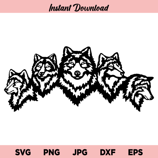 Wolf SVG File, Wolves SVG, Wolf Clipart, Wolves Clipart, Wolf Stencil, Animals SVG, Wolf, Wolves, SVG For Cricut, SVG For Silhouette